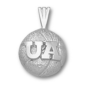 Sterling Silver 1/2in Arizona Wildcats Basketball Pendant