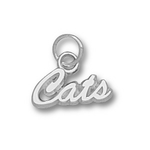 Sterling Silver 1/4in University of Arizona Cats Charm