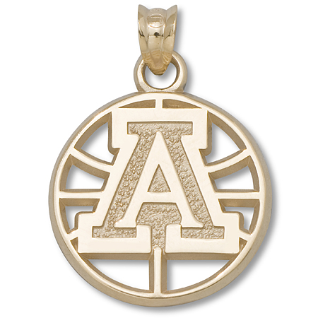 10kt Yellow Gold Univ of Arizona Basketball Pendant