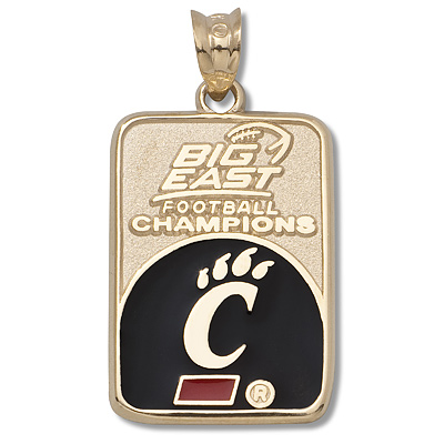 10kt Yellow Gold 3/4in Univ of Cincinnati Big East Champs Pendant