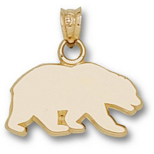 10kt Yellow Gold 3/8in Cal Bears Silhouette Pendant