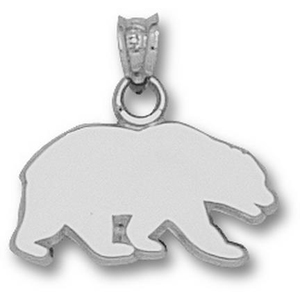 Sterling Silver 3/8in Cal Bears Silhouette Pendant