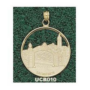Cal Berkeley Golden Bears 1in 10k Sather Gate Pendant