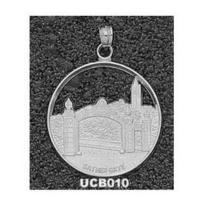 Cal Berkeley Golden Bears 1in Sterling Silver Sather Gate Pendant