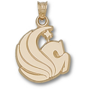 14kt Yellow Gold 5/8in Central Florida Pegasus Pendant