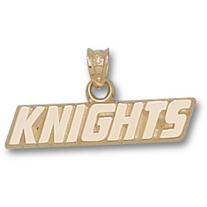14kt Yellow Gold 1/4in Central Florida Knights Pendant