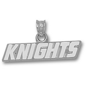 Sterling Silver 1/4in Central Florida Knights Pendant