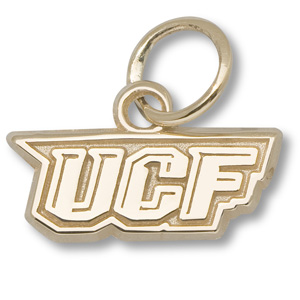 10kt Yellow Gold 1/2in University of Central Florida Charm