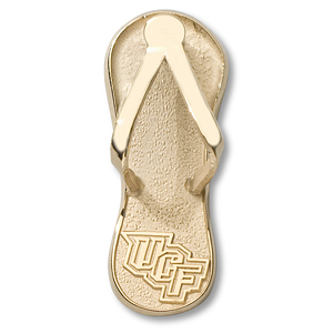 14kt Yellow Gold 1in UCF Flip Flop Pendant