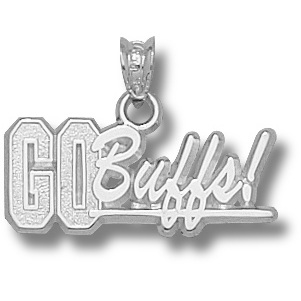 Sterling Silver University of Colorado Go Buffs Pendant