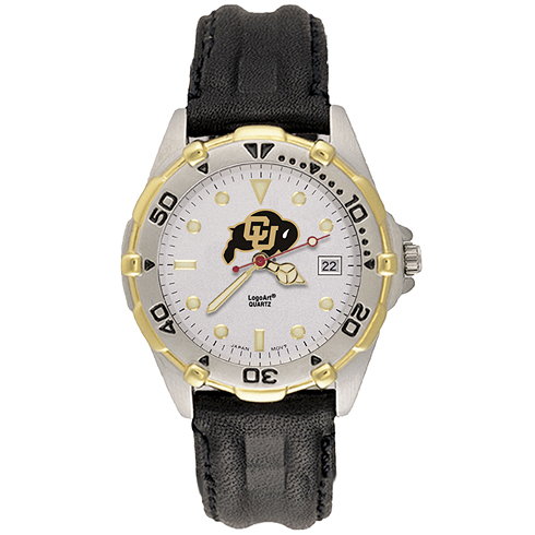 University of Colorado All Star Leather Mens Watch
