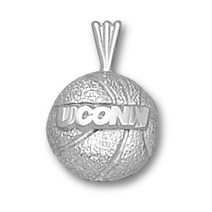 Sterling Silver 1/2in UCONN Basketball Pendant