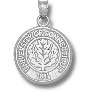 Sterling Silver 5/8in University of Connecticut Seal Pendant