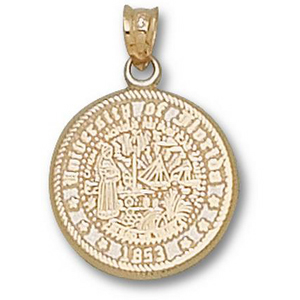 10kt Yellow Gold 5/8in University of Florida Seal Pendant