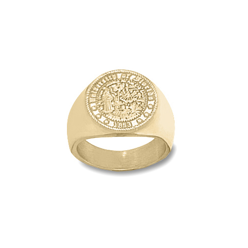 14kt Yellow Gold Men's University of Florida Seal Ring