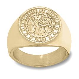 14kt Yellow Gold Men's University of Florida Seal Ring