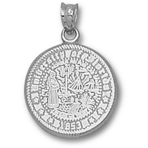Sterling Silver 5/8in University of Florida Seal Pendant