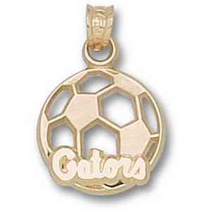 14kt Yellow Gold 9/16in Florida Gators Soccer Pendant