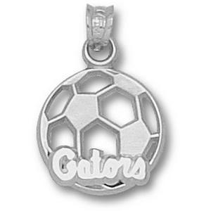 Sterling Silver 9/16in Florida Gators Soccer Pendant