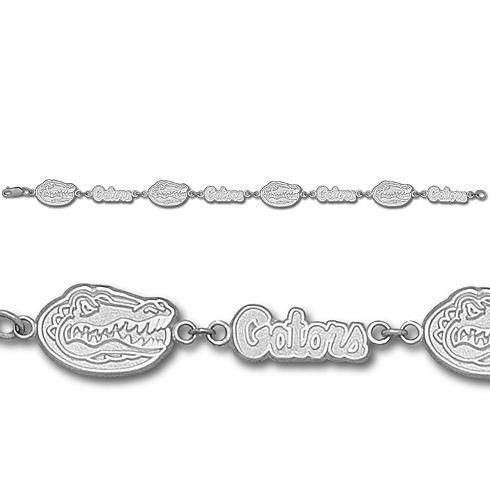 Florida Gators 7in Sterling Silver Bracelet
