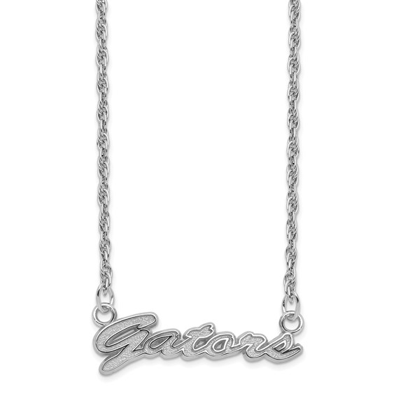Sterling Silver 18in Florida Gators Script Necklace