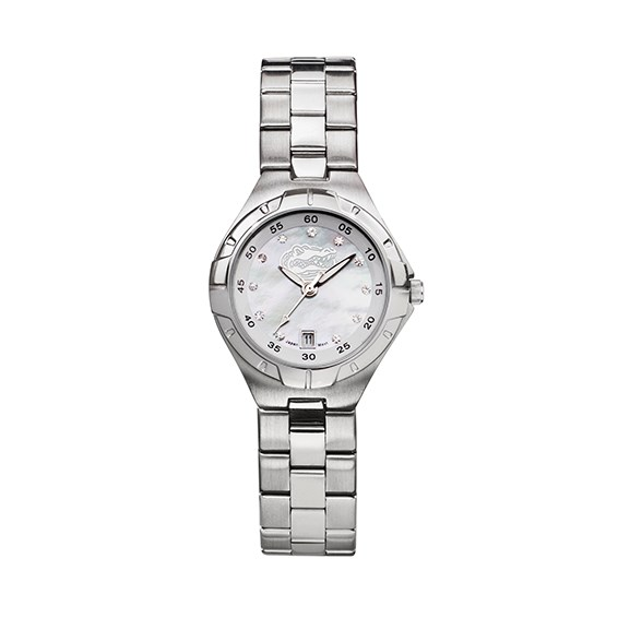 Florida Gators Ladies Stainless Pro II Pearl Dial Watch