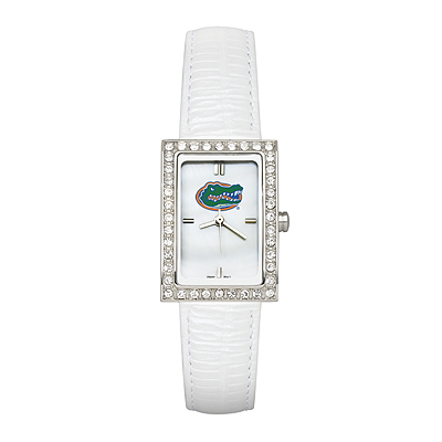 Florida Gators Ladies Allure Watch White Leather Strap
