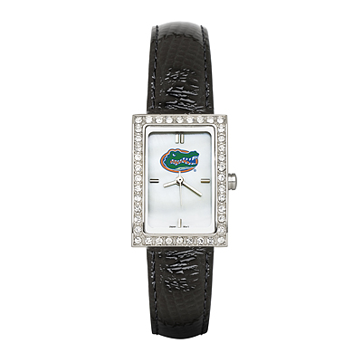 Florida Gators Ladies Allure Watch Black Leather Strap