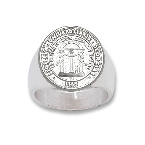 Sterling Silver University of Georgia Men's Seal Ring
