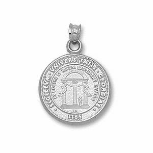 Georgia Bulldogs 3/4in Sterling Silver Seal Pendant