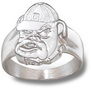 Sterling Silver Georgia Bulldogs Men's Ring