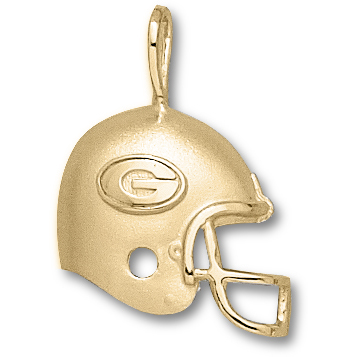 Georgia Bulldogs 3/4in 10k Helmet Pendant