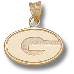 Georgia Bulldogs 3/8in 10k G Pendant