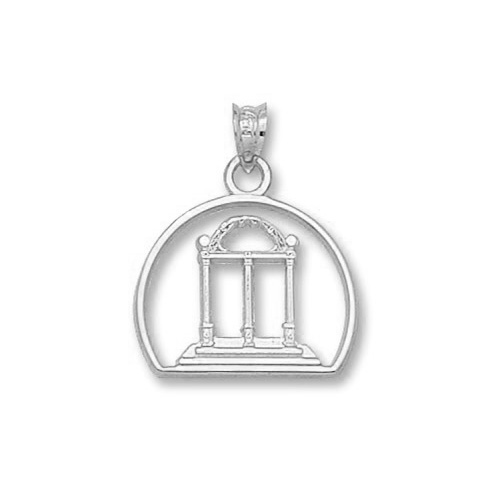 Sterling Silver 3/4in University of Georgia Arch Pendant