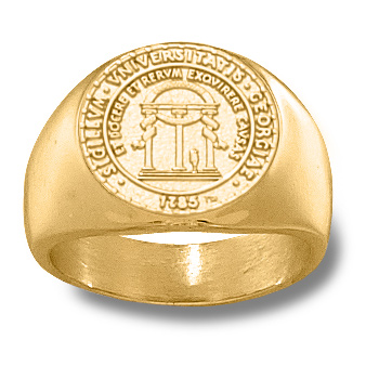 Men's Georgia Bulldogs 5/8in Seal Ring - 14k Gold