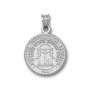 Georgia Bulldogs 5/8in Sterling Silver Seal Pendant