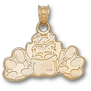 Georgia Bulldogs 1/2in 14k Fighting Dog Pendant