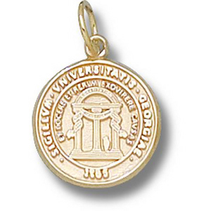 10kt Yellow Gold 1/2in University of Georgia Seal Charm