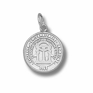 Sterling Silver 1/2in University of Georgia Seal Charm