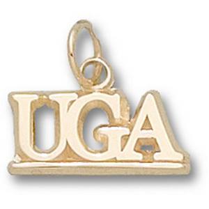 Georgia Bulldogs 3/8in 10k UGA Pendant