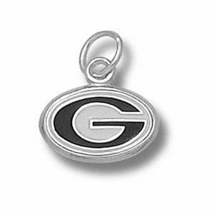 Sterling Silver 5/16in University of Georgia G Enamel Pendant