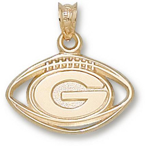 Georgia Bulldogs 1/2in 10k UGA Football Pendant