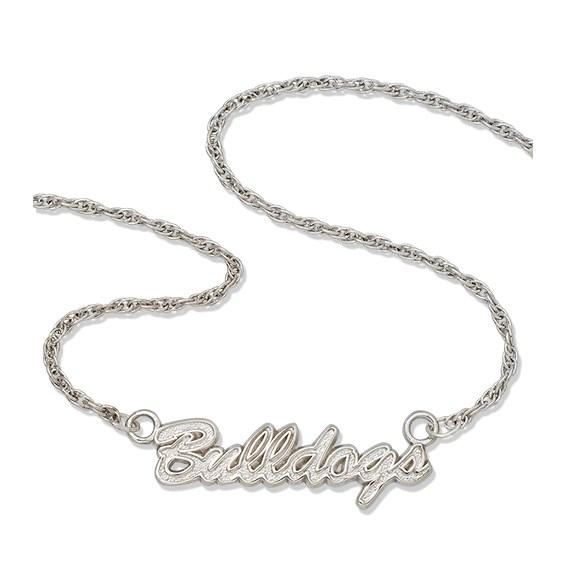 University of Georgia Bulldogs 18in Sterling Silver Script Necklace