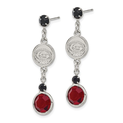 University of Georgia Crystal Logo Earrings