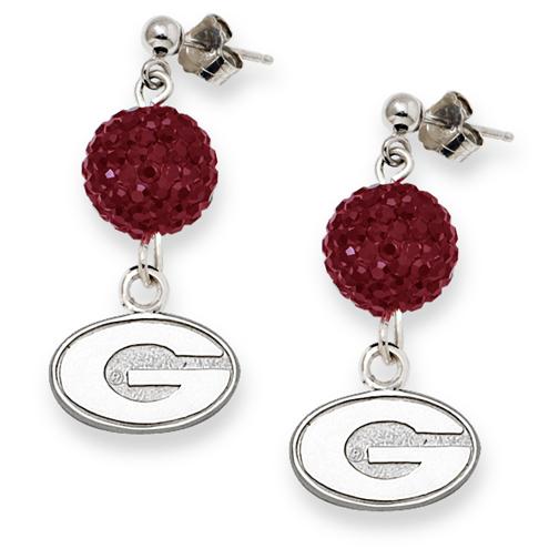 University of Georgia Crystal Ovation Earrings