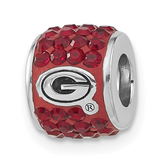 University of Georgia Premier Bead Charm Sterling Silver