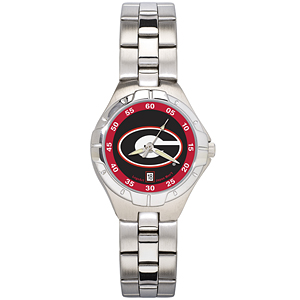 University of Georgia Ladies Stainless Pro II Watch