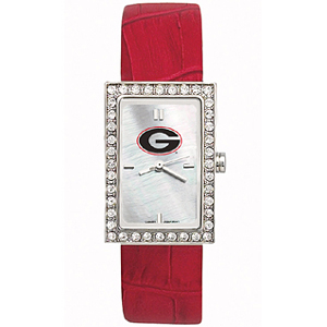 Georgia Bulldogs Starlette Red Leather Watch