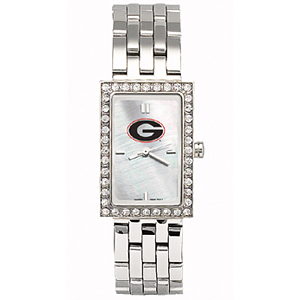 Georgia Bulldogs Starlette Stainless Steel Watch