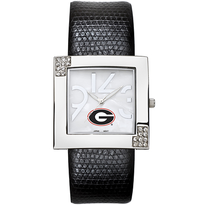 University of Georgia Chrome Ladies Glamour Watch - Clearance
